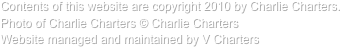 Contents of this website are copyright 2010 by Charlie Charters. 
